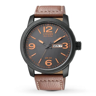 Citizen Men's BM8475-26E Eco-Drive Sport Brown Leather Watch