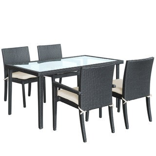 Viva Outdoor Wicker Espresso Patio Dining Set