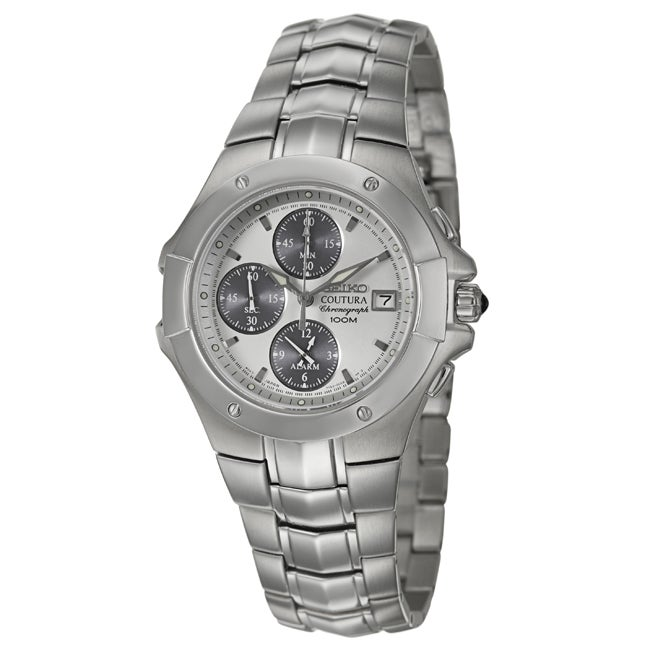 Seiko Men's 'Coutura' Stainless Steel Chronograph Watch