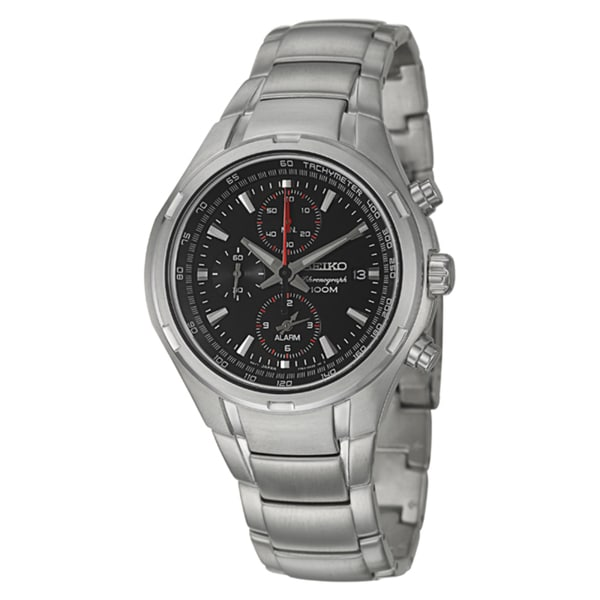 Seiko Men's 'Alarm Chronograph' Stainless Steel Chronograph Watch