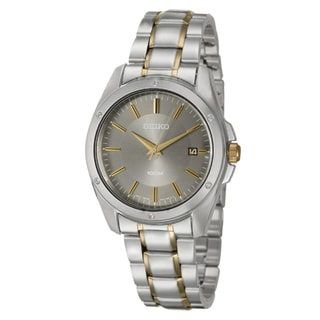 Seiko Men's 'Dress' Stainless Steel and Yellow Goldplated Date Watch