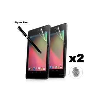 Google Nexus 7 Anti-Fingerprint Screen Protector Dual-purpose Micro-knit Capacitive Stylus Pen (Set of 2)