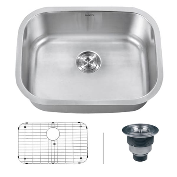 16 Gauge Undermount Kitchen Sink : ... RVK4200 Undermount Stainless Steel 32-inch Kitchen Sink Single Bowl