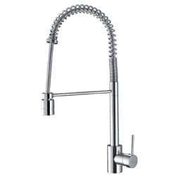 Ruvati Polished Chrome Commercial Style Pullout Spray Kitchen Faucet