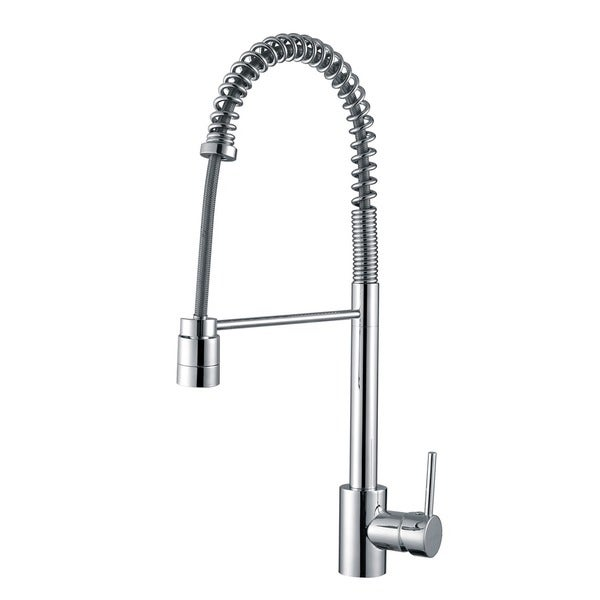 Ruvati RVF1210CH Polished Chrome Commercial Style Pullout Spray Kitchen Faucet