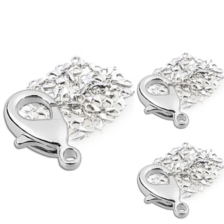 BasAcc 12-mm Silver Lobster Clasps (Pack of 150)