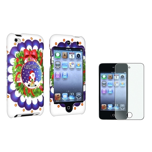 BasAcc White Case/Screen Protector 2-Piece Set for Apple iPod Touch Generation 4