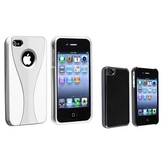 BasAcc Silver/ White Cup/ Black Carbon Case for Apple� iPhone 4/ 4S