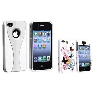 BasAcc Silver/ White Case/ White Rubber Case for Apple� iPhone 4/ 4S