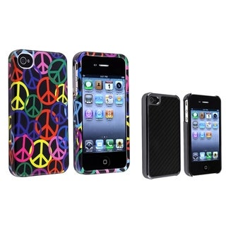 BasAcc Black Rainbow/ Black Carbon Case for Apple� iPhone 4/ 4S