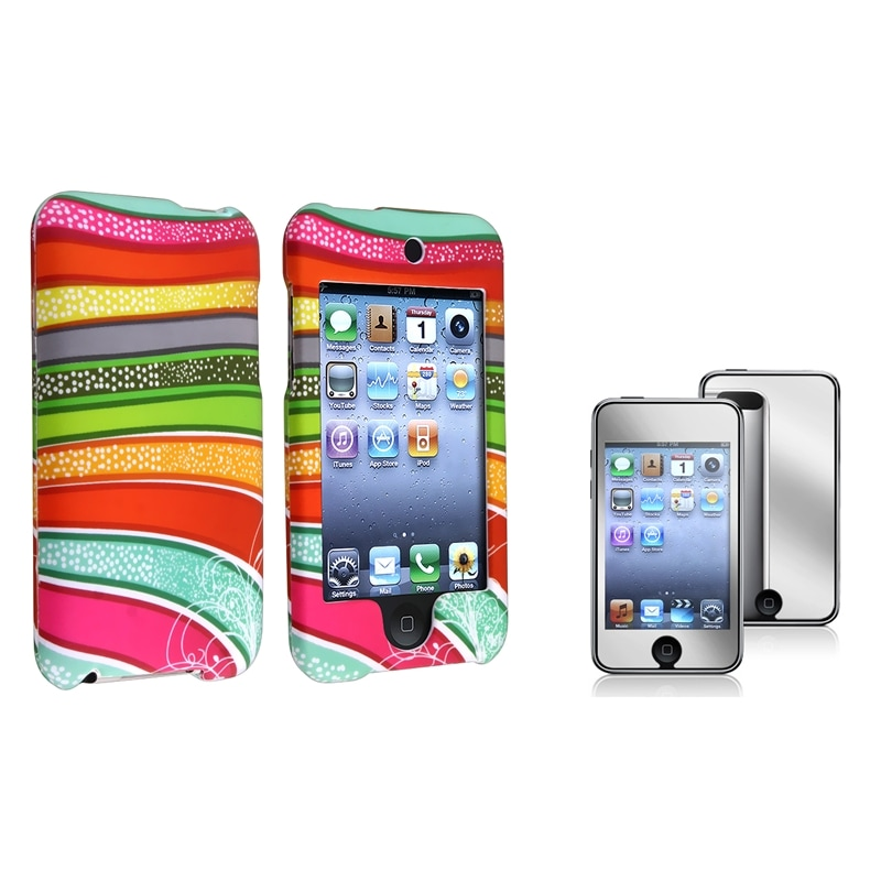 BasAcc Rainbow Case/Screen Protector for Apple iPod Touch Generation 2/3