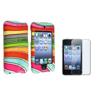 BasAcc Rubber Case/Screen Protector for Apple iPod Touch Generation 2/3