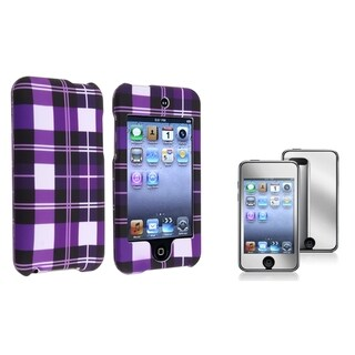 BasAcc Snap-On Rubber Case/Screen Protector for Apple iPod Touch Generation 2/3