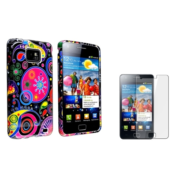 BasAcc Black TPU Case/ Screen Protector for Samsung© Galaxy S2 i9100