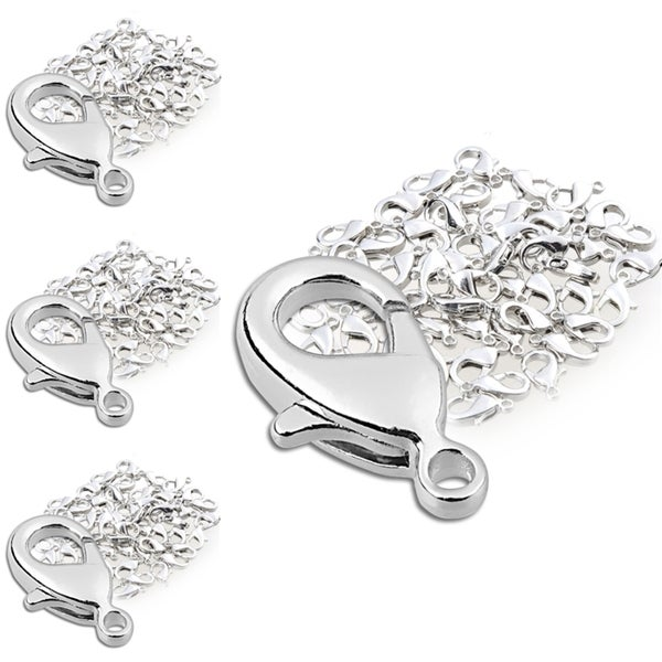 INSTEN 12-mm Silver Lobster Clasps (Pack of 200)