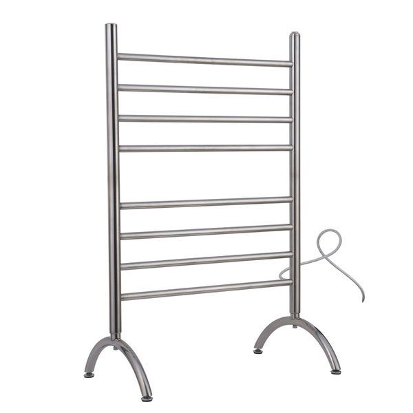 Barcelona Free Standing 8-Bar Brushed Stainless Towel Warmer
