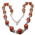 30-inch Silverplated Bumpy Gold Pearl Jewelry Set