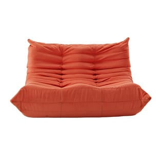 Waverunner Modular Orange Sectional Loveseat