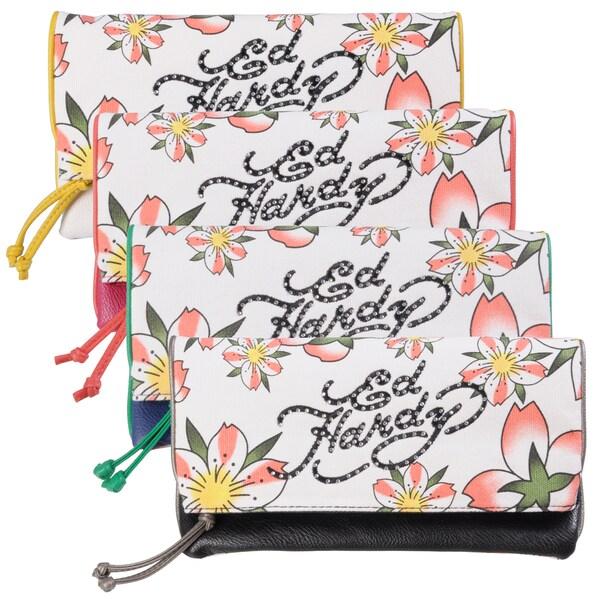 Ed Hardy Women's Fresh Floral Amarylis Clutch