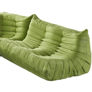 Waverunner Modular Green Sectional Loveseat