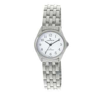 Laurens Women's Analog Stainless Steel White Dial Watch