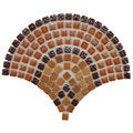 SomerTile Reflections Arch Paprika Glass and Stone Mosaic Tiles (Case of 10)
