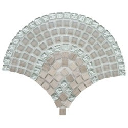 SomerTile Reflections Arch Salton Glass and Stone Mosaic Tiles (Case of 10)
