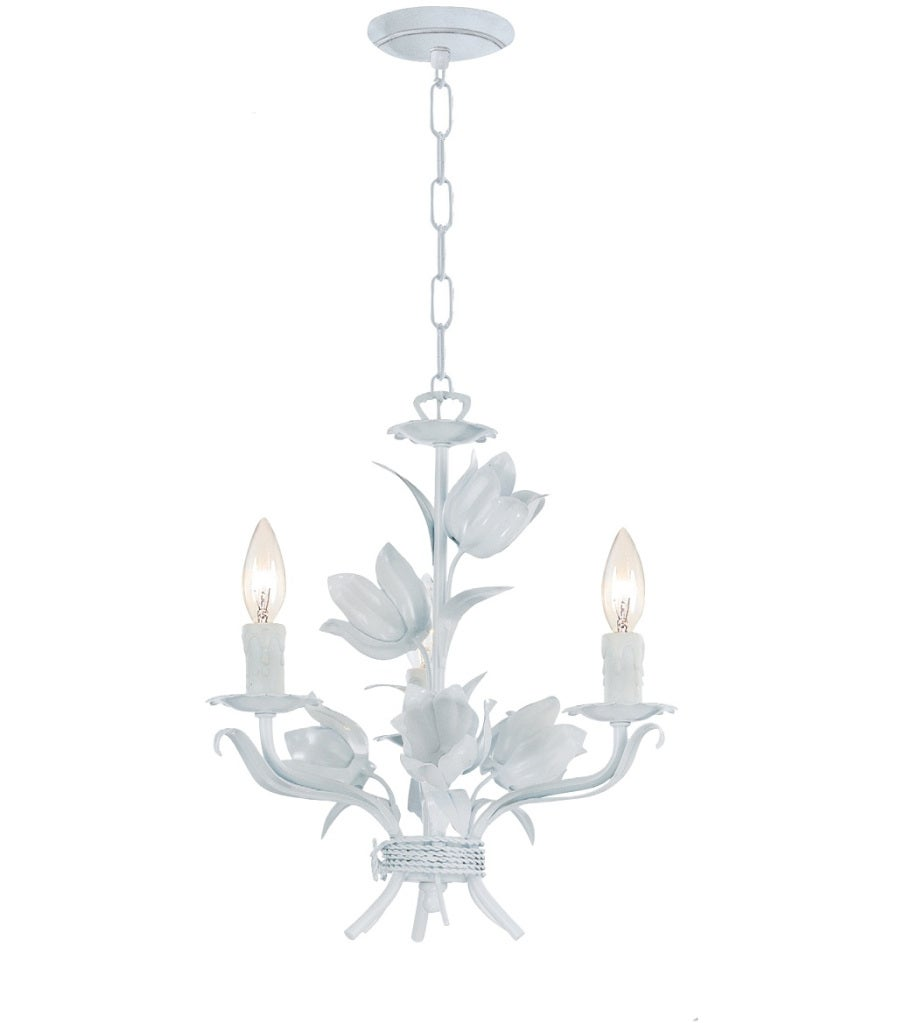 Crystorama Southport Collection 3-light Wet White Chandelier
