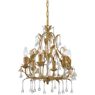 Athena Champagne 6-light Chandelier