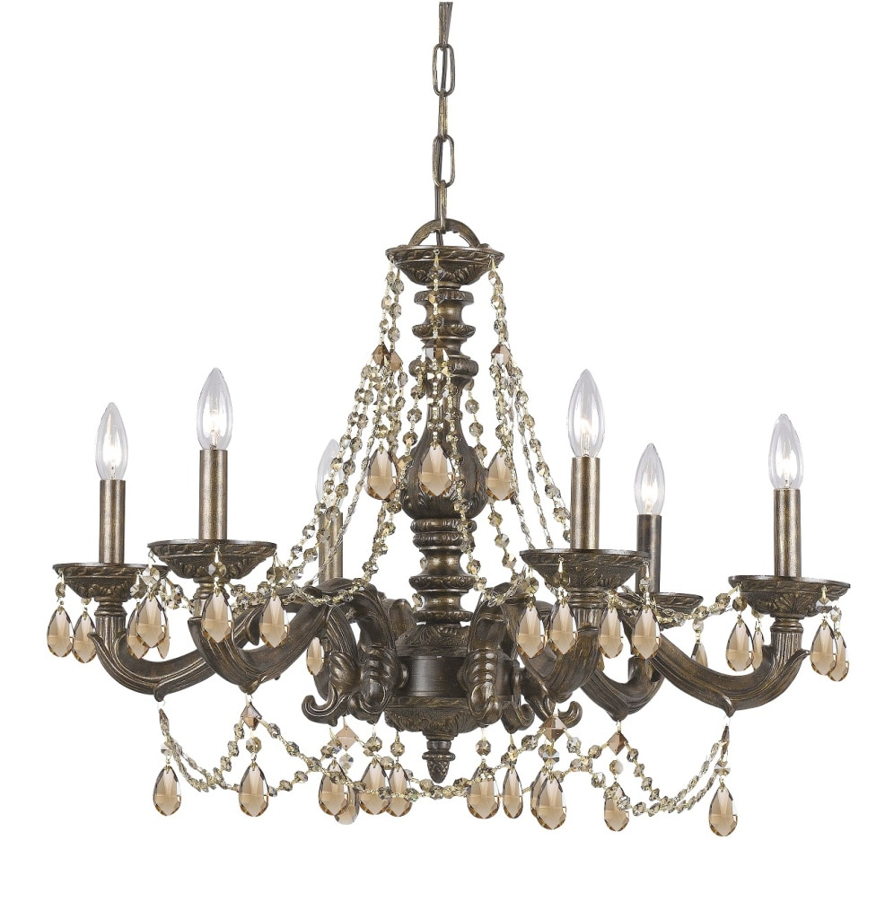 Venetian Bronze Chandelier: Sutton 6-light Venetian Bronze Chandelier