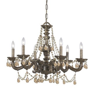 Traditional 6-light Venetian Bronze Chandelier