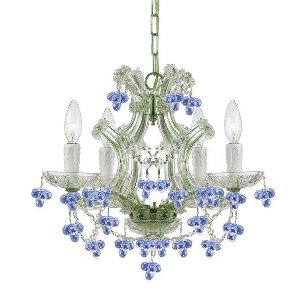 Crystorama Maria Theresa Collection 4-light Chrome/ Crystal Chandelier