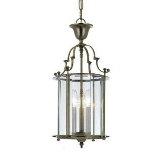 Camden 3-light Pendant in Antique Brass