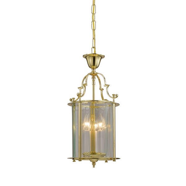 Camden 3-light Pendant in Polished Brass