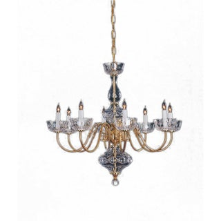 Colonial 8-light Chandelier in Polished Brass