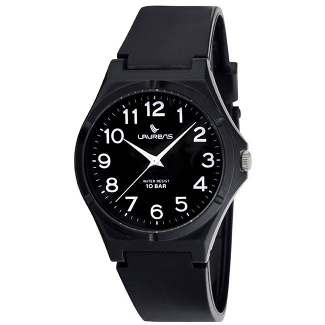 Laurens Italian Design Children's Analog Black Rubber Watch