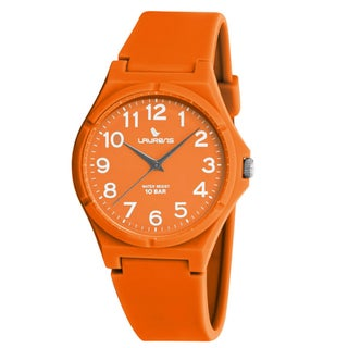 Laurens Kids' Italian Design Orange Rubber Analog Watch