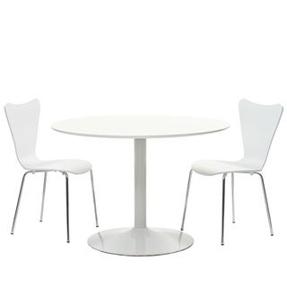 White Finish Table and Chair Set