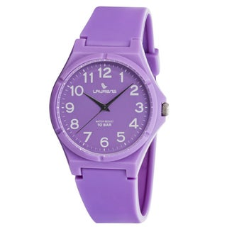 Laurens Italian Design Children's Purple Rubber Analog Watch
