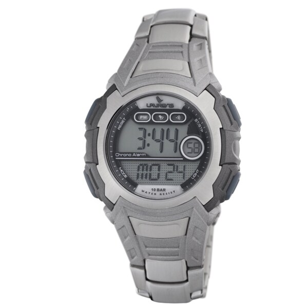 Laurens Men's Stainless Steel Digital Watch