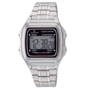 Laurens Italian Design Kid's Silver-tone Digital Watch