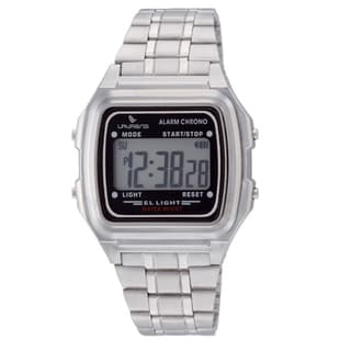 Laurens Kids' Italian Design Silvertone Digital Watch