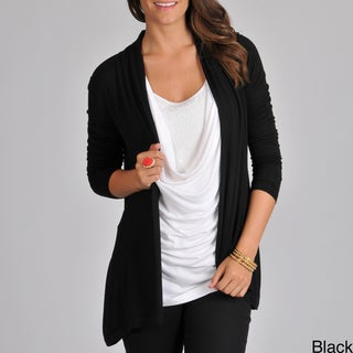 Focus 2000 Women's Asymmetrical Back Hem Flyaway Cardigan