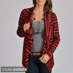 Focus 2000 Women's Ponte Flyaway Striped Cardigan