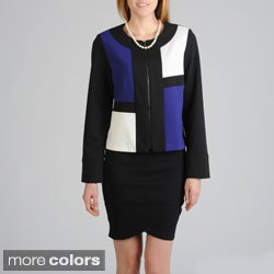 Focus 2000 Women's Ponte Colorblock Jacket