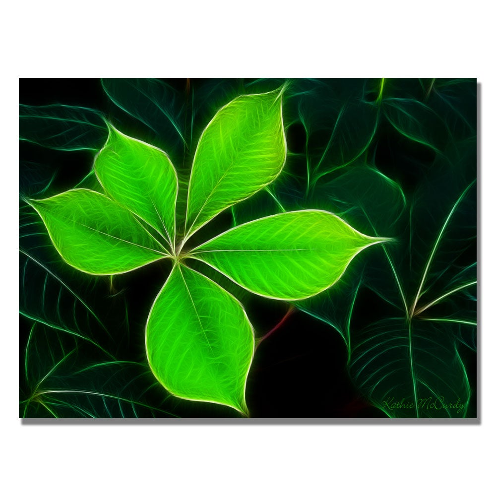 Kathie McCurdy 'Big Green Leaf' Canvas Art