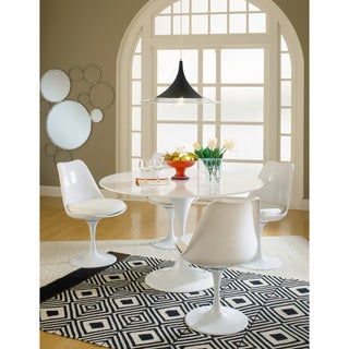 Eero Saarinen White Cushion Dining Set