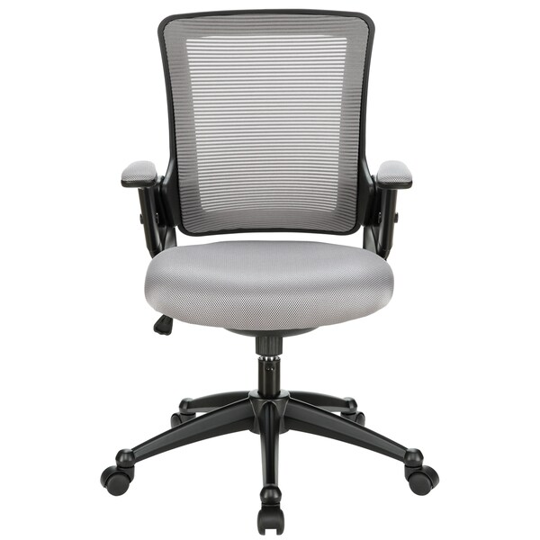 Black/ Grey Padded Seat Office Chair