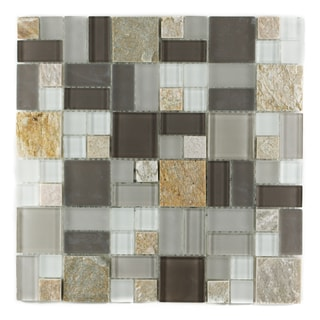 ICL P-2150 Glass Marble Mix Mosaic Tiles (Case of 11)