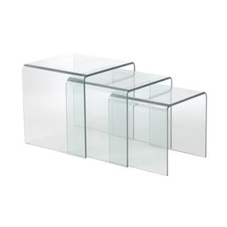 Euro Style 'Gianna' Glass Nesting Table